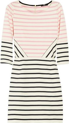 Markus Lupfer Pink Charlotte Striped Cotton Dress