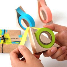 Hacoa  kide-kiruMT Woodworking Projects, Wood Projects, Cnc, Masking Tape, Washi Tapes, Washi Tape Dispenser, 木工 Diy, Design Industrial, Paper Goods