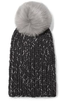 24b9b62b3d3 Likely the hat worn in Sweden for the first day of the royal tour Jan 30  3018 Eugenia Kim Rain faux fur-trimmed chunky-knit wool beanie