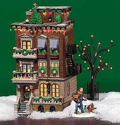 Parkside Holiday Brownstone UTube New Department Dept 56 Christmas in The City