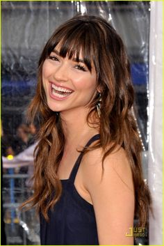 Crystal Reed - color and bangs
