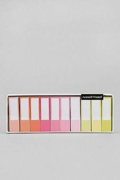 Russell + Hazel Sticky Page Marker Pad - Set Of 10