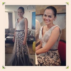 .@yaneenunez | My modern filipiniana gown by @randy_e_ortiz thanks again tito | Webstagram - the best Instagram viewer Modern Filipiniana Gown, Golden Anniversary, Pinoy, Mom And Dad, 50th, Sequin Skirt, Dads, Gowns, Skirts