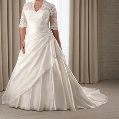 Enjoy this post of plus size wedding gowns with sleeves! Today I have a fabulous collection of plus size wedding gowns with sleeves Shop women's sale Wedding Dress Styles, Bridal Dresses, Bridesmaid Dresses, Prom Dresses, Evening Dresses, Dresses 2013, Summer Dresses, Plus Size Wedding Dresses With Sleeves, Plus Size Dresses