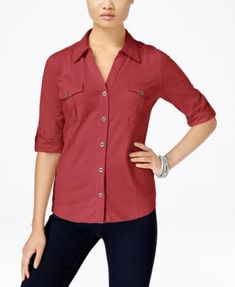 Style & Co. Utility Shirt, Only at Macy's $17.98 Refresh your casual look in Style & Co.'s utility shirt, featuring a light jersey fabric and roll-tab sleeves.