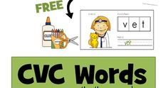 FREE CVC Short e vowel word booklets for preschool, prek, kindergarten, and first grade to cut and paste, write and color. These are such a fun way for kids to practice sounding out and spelling with an emergent reader type book.