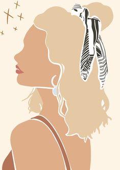 Leave her wild print Illustration Design Graphique, Portrait Illustration, Digital Illustration, Graphic Illustration, Illustrations, Grafik Design, Minimalist Art, Face Art, Aesthetic Art