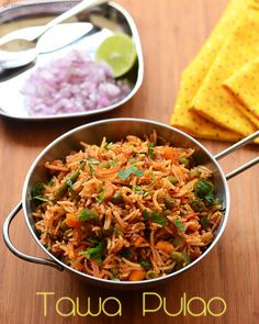 Easy way to use up leftover rice by making this tawa pulao - Indian left over rice recipes