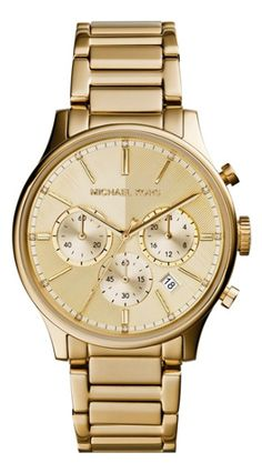 beautiful gold Michael Kors watch  http://rstyle.me/n/mtphipdpe