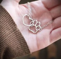 Heart and Paw Necklace