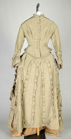 Wedding Dress (image 1)   American   1872   silk   Brooklyn Museum Costume Collection at The Metropolitan Museum of Art   Accession Number: 2009.300.6574a–c