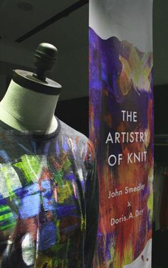 Created by Tenn Ltd For John Smedley - The Artistry Of Knit Window. Painterly Graphic Banner And Hand Dripped Paint Pots Visual Merchandising, Drip Painting, Exhibition, Painted Pots, Spring Summer 2016, Retail Design, Art Studios, Banner, London