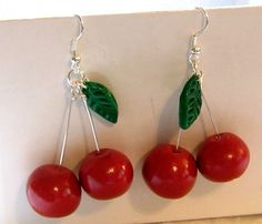 Cherry Polymer Clay Earrings