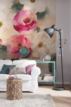 Combine your wall art with all the other pieces in your living room, such as the sofa and the cushions!