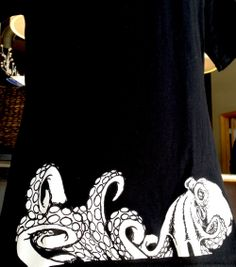 Shirt Kong: We can do more with placement than just full fronts and full backs! Ask about sleeve prints, side prints and hemline prints. #ShirtKong #screenprinting #octopus #Tshirt #graphictee