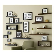 Crate and Barrel shelves/wall boxes/frames - love it to display a multitude of things