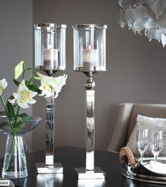 luxury home tuotteet - kynttilänjalat Silver Candlesticks, Living Styles, Candle Lanterns, Home Decor Items, Home Accents, Decoration, Accent Decor, Luxury Homes, Home Accessories