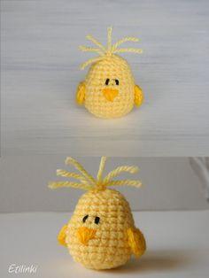 Crochet Chick Amigurumi,Miniature Chick Figurine,Country Home Decoration,Farm Animal Plush Baby Chick,Small Bird,Cute Tiny Chick,Easter Gift