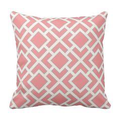 Oriënteer Vierkant Patroon in de Roze Grijze Room Sierkussen