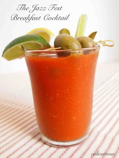 The Best Bloody Mary Recipe - the perfect Jazz Fest breakfast cocktail.