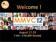MoodleMoot Virtual Conference 2012, from August 17-19 on WizIQ