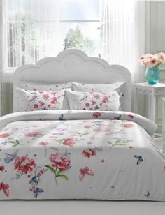 Chic Home Mitzy 4 Piece Reversible Duvet Cover Set Cotton Large Floral Design Geometric Scale Pattern Print Zipper Closure Bedding - Decorative Pillow Shams Included, Queen Rose, Pink King Duvet Cover Sets, Queen Comforter Sets, Bed Duvet Covers, Queen Duvet, Bedding Sets, Pillow Shams, Chic Bedding, Bed Sets, Luxury Bedding