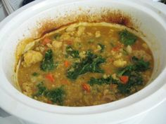 lentil quinoa cauliflower soup---really nice flavors in this soup--the seasoning is great