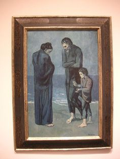 "Painting Exhibition: Vincent van Gogh and Expressionism: Famous Paintings: Picasso ""The Tragedy"", from his Blue Period"