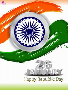Happy 26 January Indian Republic Day Wishes Messages Fag Card Image Wheel Picture
