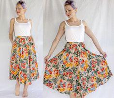 vintage 70s bohemian wrap skirt