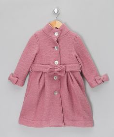 Pink Wool Coat - Infant, Toddler & Girls by Malvi & Co.