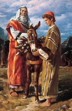 "LDS Gospel Doctrine Plus: Old Testament Lesson ""God Will Provide Himself a Lamb"" Lds Art, Bible Art, Isaak, Province Du Canada, Arte Judaica, La Sainte Bible, Bible Pictures, Biblical Art, Old Testament"