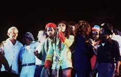 Bob Marley- the most amazing peace concert in South Africa.  Lightening struck behind them while bob sang!