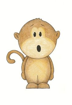 Nursery Wall Art - Monkey Modern, 5x7 Print Matted