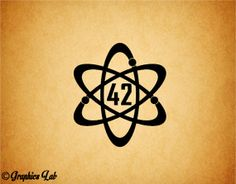 42 Hitchhiker's Guide to the Galaxy Decal The by GraphicsLabMN, $3.00