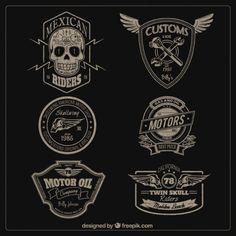 Motores insignias Vector Gratis