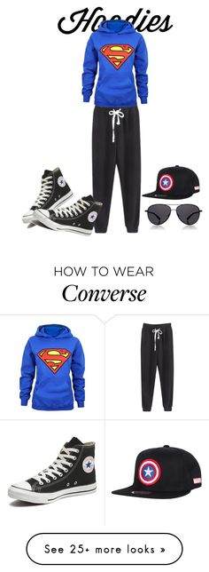"""Untitled #3"" by jasmina-749 on Polyvore featuring Converse, The Row, women's clothing, women's fashion, women, female, woman, misses, juniors and Hoodies"