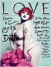 Beth Ditto, lead singer of Gossip & a real firecracker.  Wish I had her balls!