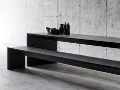Rectangular MDF table OMBRÌ 01 by FIORONI | design Studio Guscetti