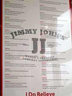 Sign at Jimmy John's True quotes, Quotes, Sayings