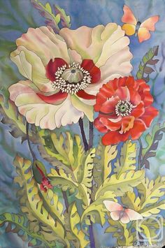 Poppies by Galina Vasilyeva#Repin By:Pinterest++ for iPad#