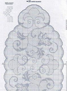 pl - Odkrywaj, kolekcjonuj, kupuj (With images) Crochet Potholders, Crochet Flower Patterns, Crochet Tablecloth, Crochet Doilies, Crochet Home, Irish Crochet, Free Crochet, Filet Crochet Charts, Crochet Diagram