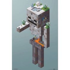 Trends International Minecraft Skeleton Tundra Wall Poster inch x 34 inch, Multicolor Minecraft Anime, Minecraft Kunst, Video Minecraft, Minecraft Statues, Minecraft Drawings, Amazing Minecraft, Minecraft Tutorial, Minecraft Blueprints, Minecraft Memes
