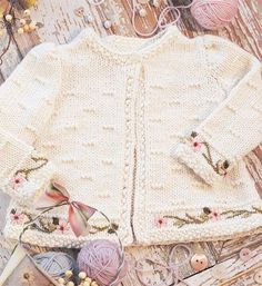 Vogue Knitting's Pattern Store baby knit pattern cardigan on craftsy.com. So pretty.