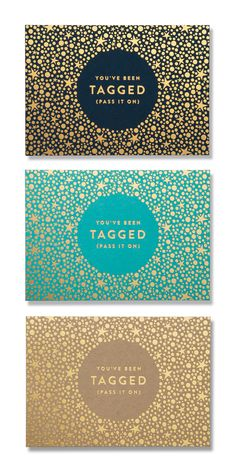 Holiday Punch Gift Tags — The Dieline