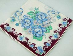 Vintage Hankie for Sewing, Quilting, Crafting D-7