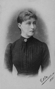 """Grand Duchess Elisabeth Feodorovna Romanova of Russia in 1885.  """"AL"""""""