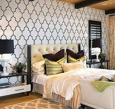 Here are some of the most popular decorative painting techniques, along with a quick guide and tips on using them on your own bedroom walls. Cutting Edge Stencils, Large Wall Stencil, Stencil Painting On Walls, Wall Stenciling, Floor Stencil, Bathroom Stencil, Tile Stencils, Paint Walls, Large Stencils