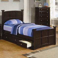 Coaster Furniture Jasper Full Bed with Optional Three Drawer Under Bed Storage - COA3173