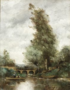 Paul-Désiré Trouillebert - Le Pont de Saint Cyprien sur le Clain, près de Poitiers, 1884.